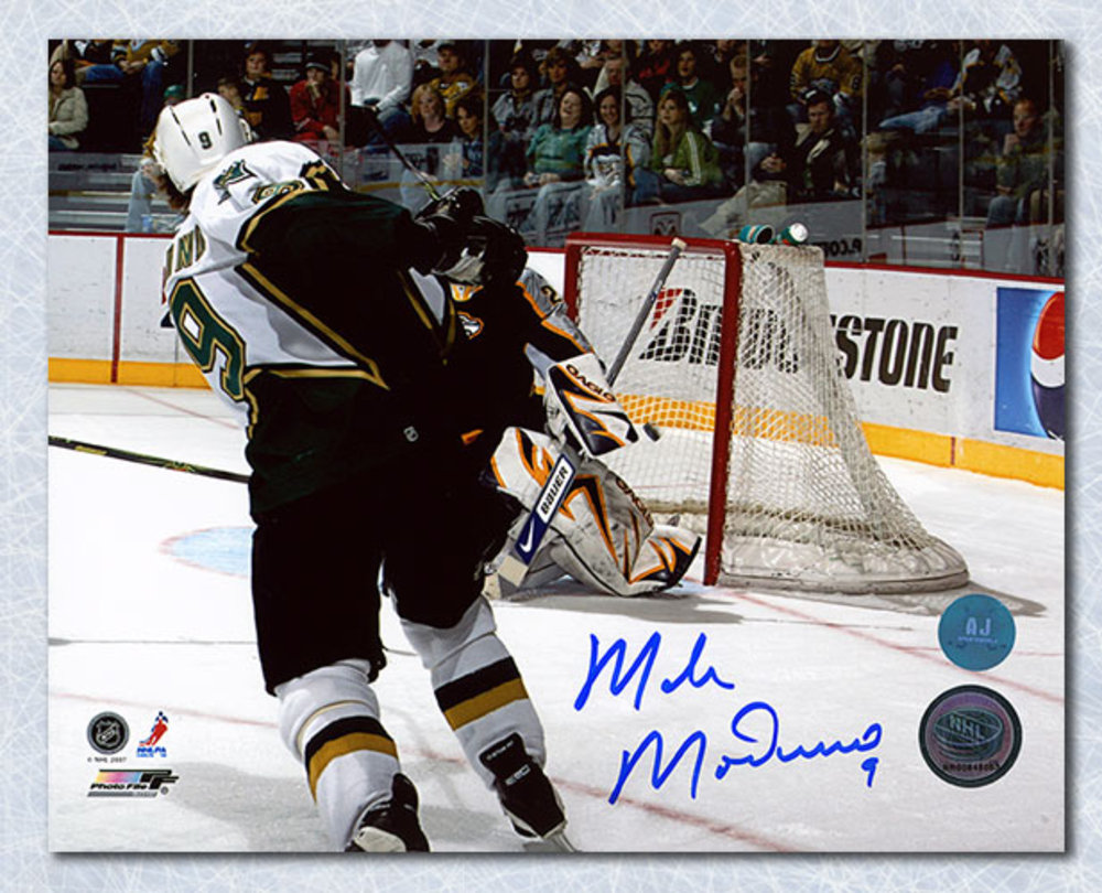 Mike Modano Dallas Stars Autographed American Born Record Goal 503 8x10 Photo