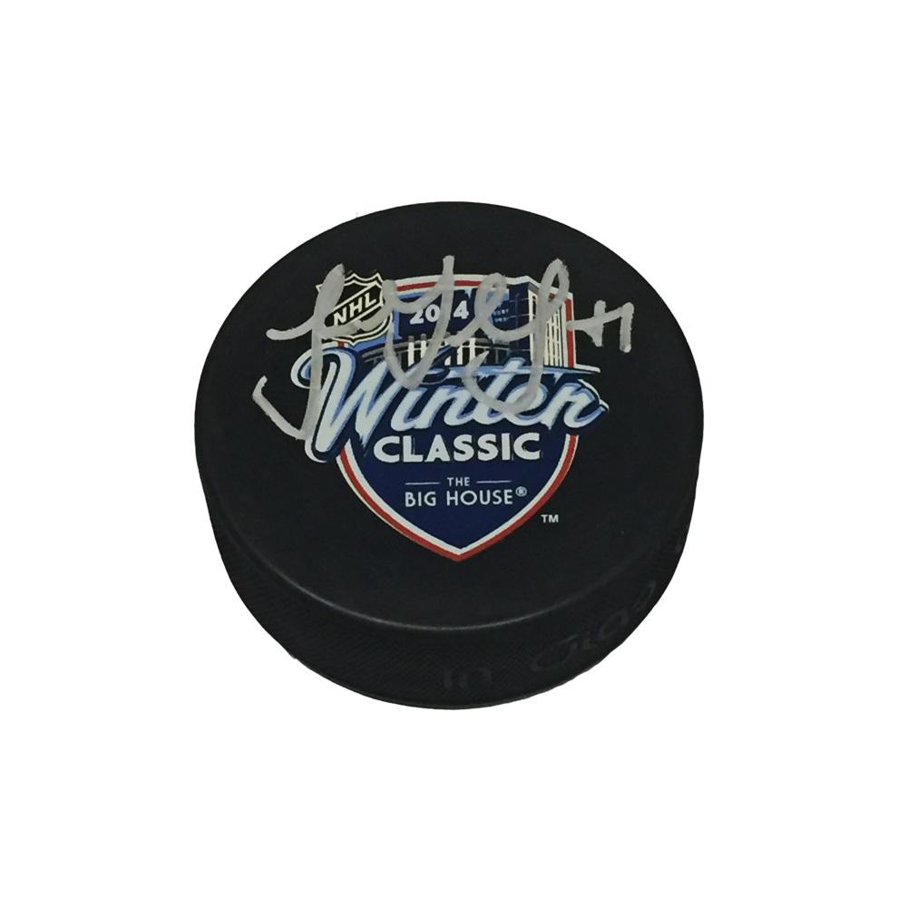 LUKE GLENDENING Signed 2014 NHL WINTER CLASSIC Souvenir Puck - Detroit Red Wings