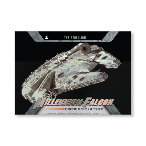2016 Star Wars Evolution Millennium Falcon EVOLUTION OF VEHICLES AND Ships Poster - # to 99