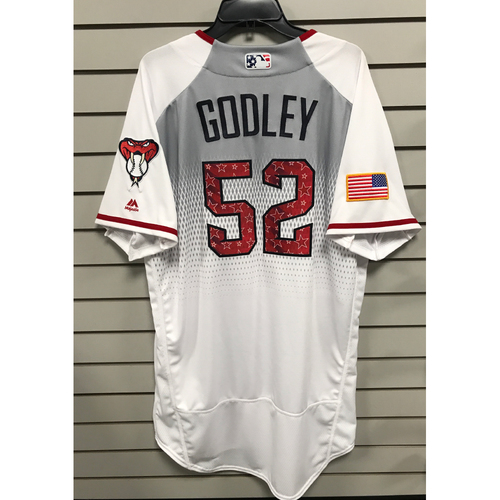 Zack Godley Team-Issued Home 4th of July Jersey