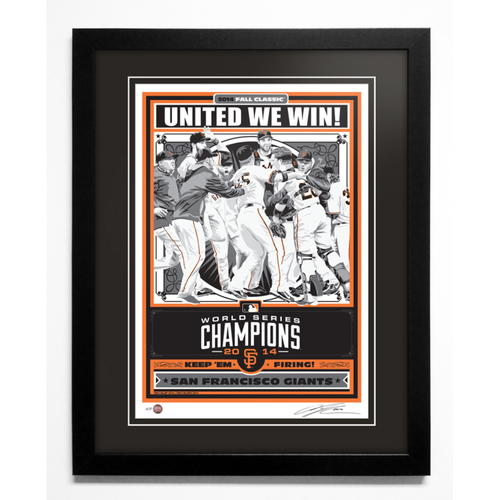 2014 San Francisco Giants World Series Champions Handmade Serigraph, Artist Proof, Signed by Artist & Framed