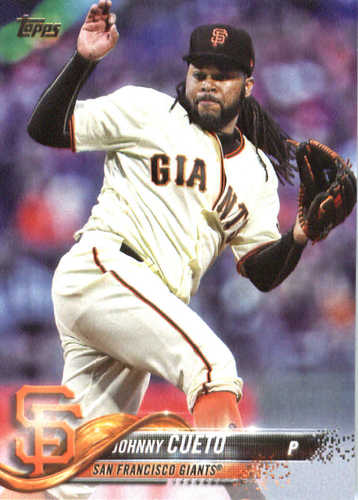 Photo of 2018 Topps #70 Johnny Cueto