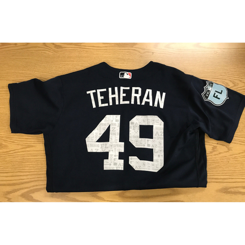 Photo of Julio Teheran Game-Used 2017 Spring Training Jersey