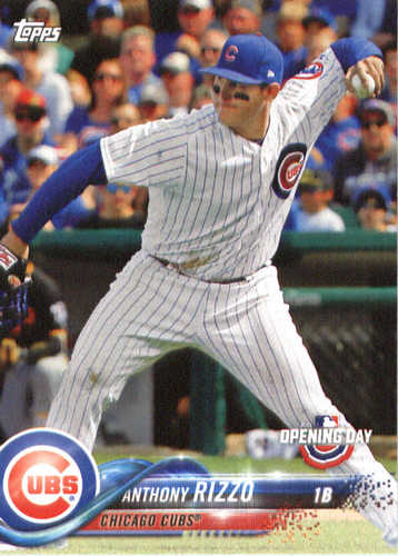 Photo of 2018 Topps Opening Day #6 Anthony Rizzo