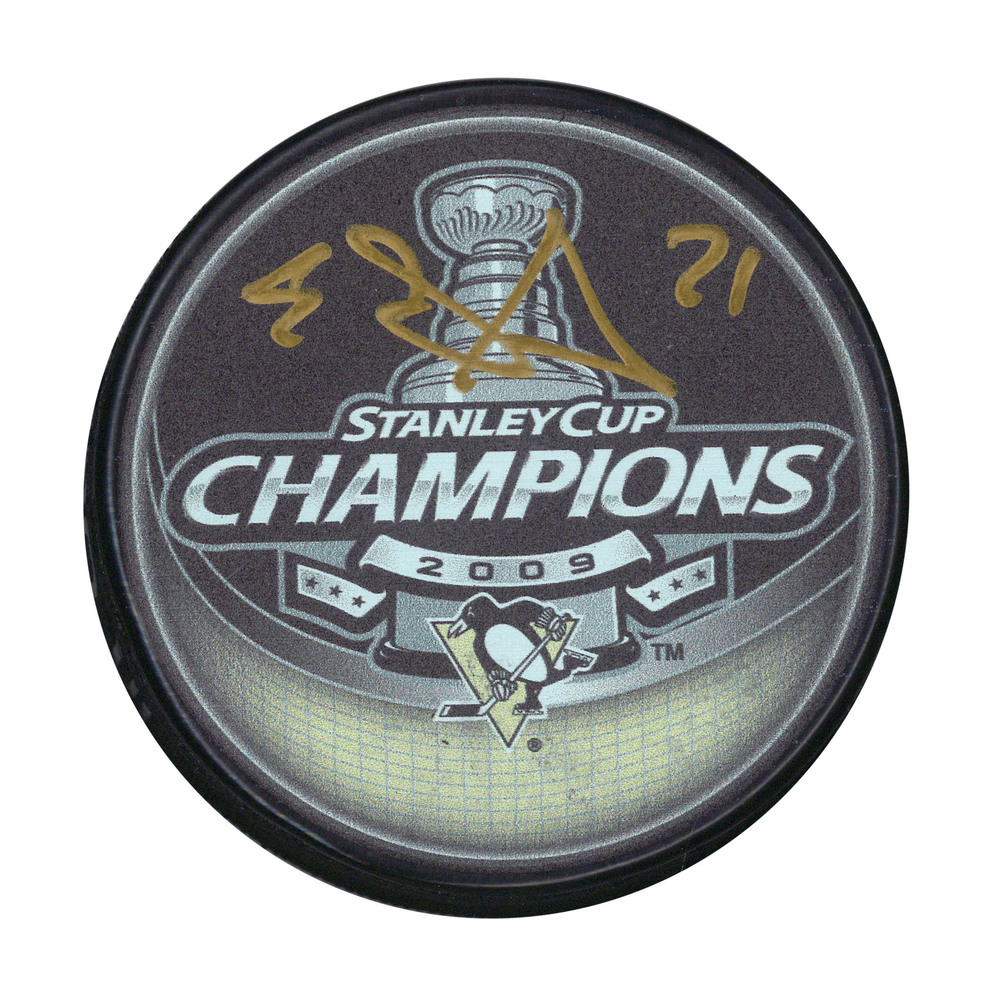 Evgeni Malkin - Signed Puck 2009 Stanley Cup Champs