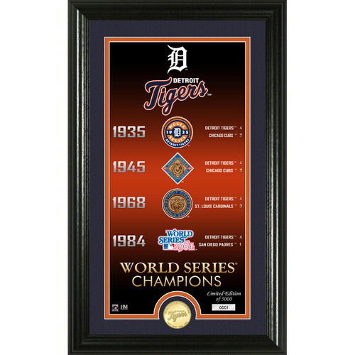 "Photo of Serial #1! Detroit Tigers ""Legacy"" Bronze Coin Photo Mint"