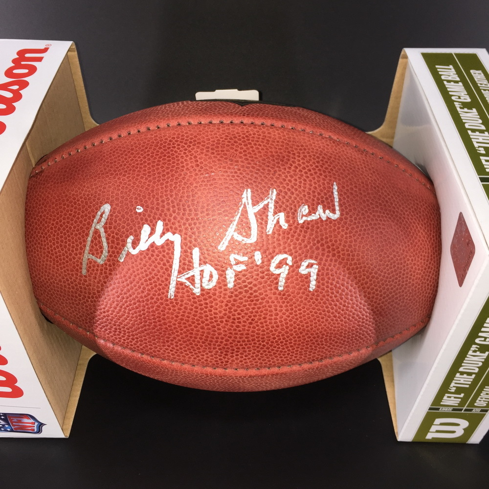 HOF - Bills Billy Shaw Signed Authentic Football