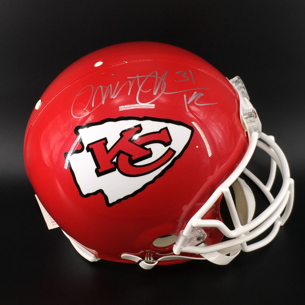PCC - Chiefs Priest Holmes Signed Proline Helmet