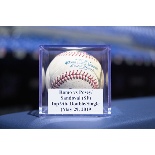 Photo of Game-Used Baseball: Game-Used Baseball: Buster Posey (SF) - Double & Pablo Sandoval - Single (May 29, 2019)