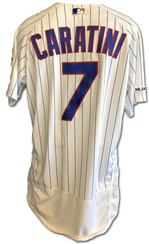 Photo of Victor Caratini Game-Used Jersey -- Caratini 2 Hits, 1 RBI -- Cardinals vs. Cubs -- 6/7/19 -- Size 46
