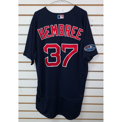 Photo of Heath Hembree Game Used September 21, 2018 Road Alternate Jersey