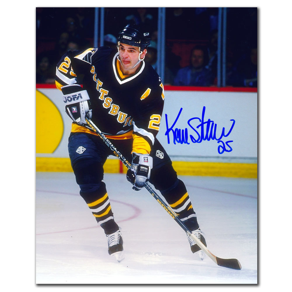 Kevin Stevens Pittsburgh Penguins RUSH Autographed 8x10