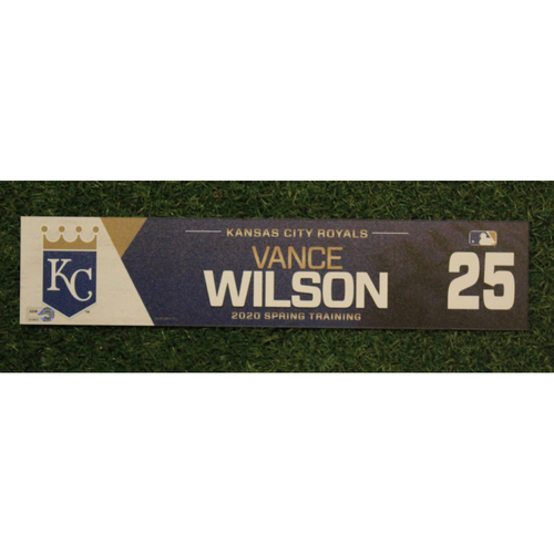 Photo of Game-Used Spring Training Locker Tag: Vance Wilson #25
