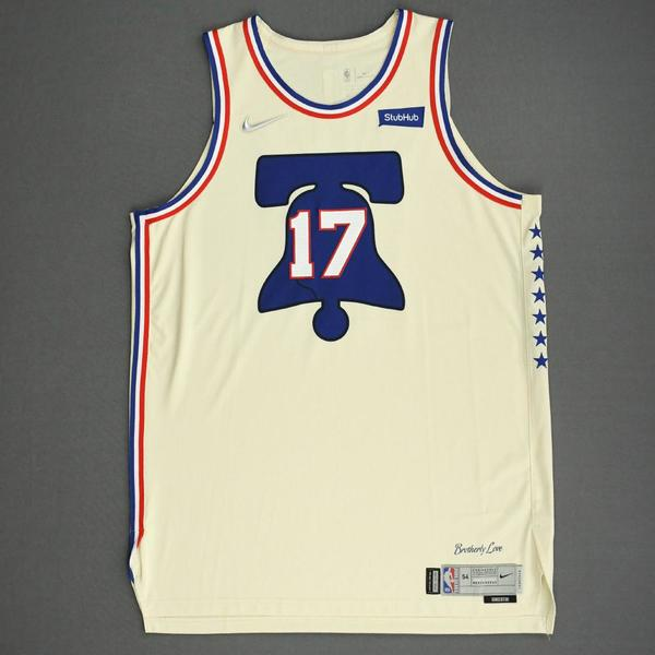 Image of Vincent Poirier - Philadelphia 76ers - Game-Worn Earned Edition Jersey - 2020-21 NBA Season