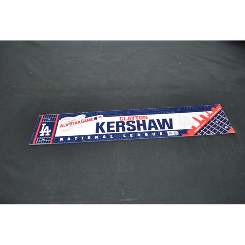 Photo of Game-Used Locker Name Plate - 2019 All-Star Game (7/9/2019) - Clayton Kershaw