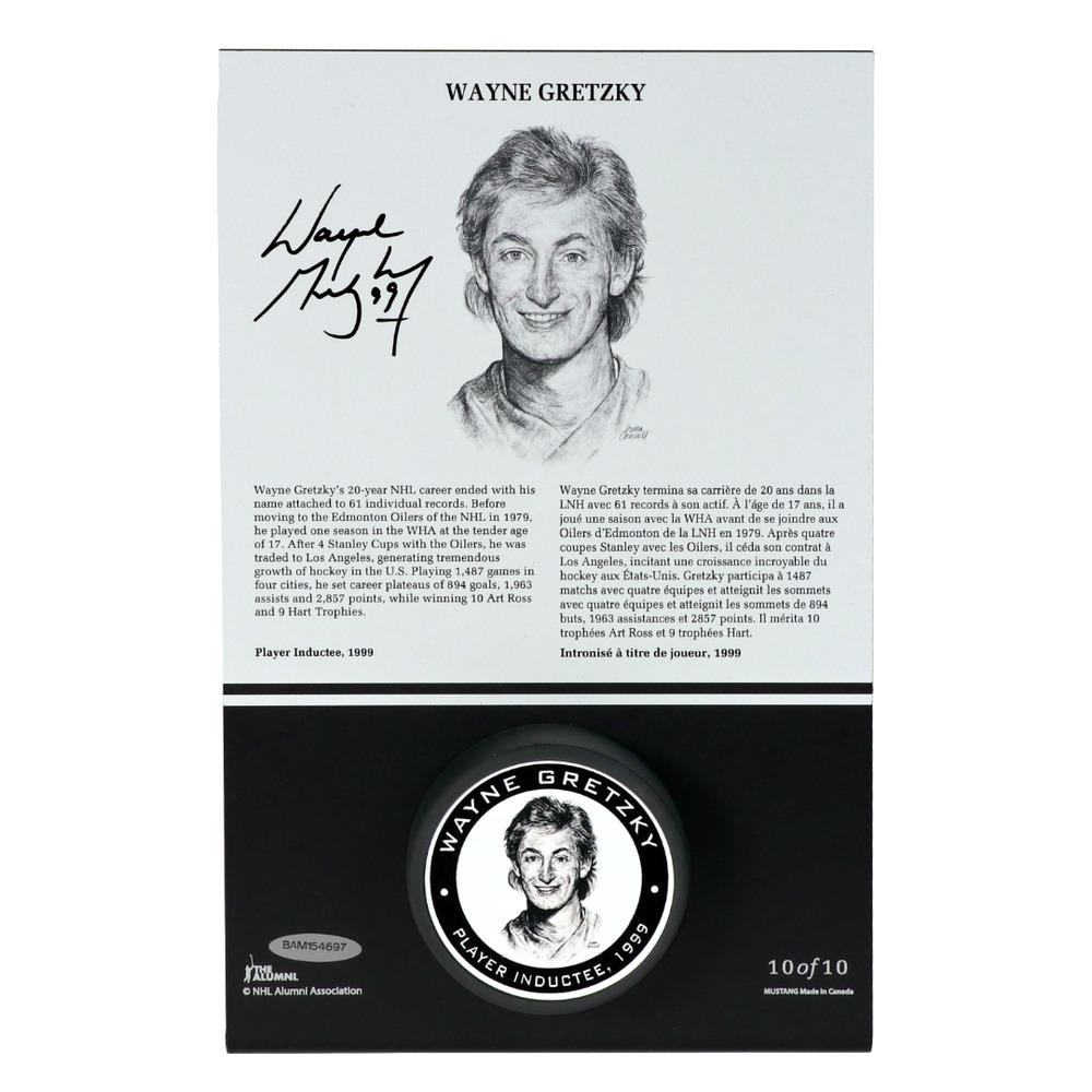 Wayne Gretzky Autographed Legends Line Honoured Member Puck Stand - Limited Edition 2/10