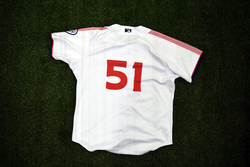 Photo of #51 Game Worn Home Jersey, Size 46, worn by Hoby Milner & Ryan Weber.