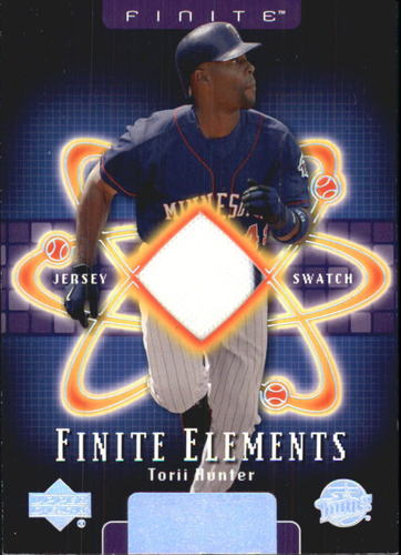 Photo of 2003 Upper Deck Finite Elements Game Jersey #TH Torii Hunter