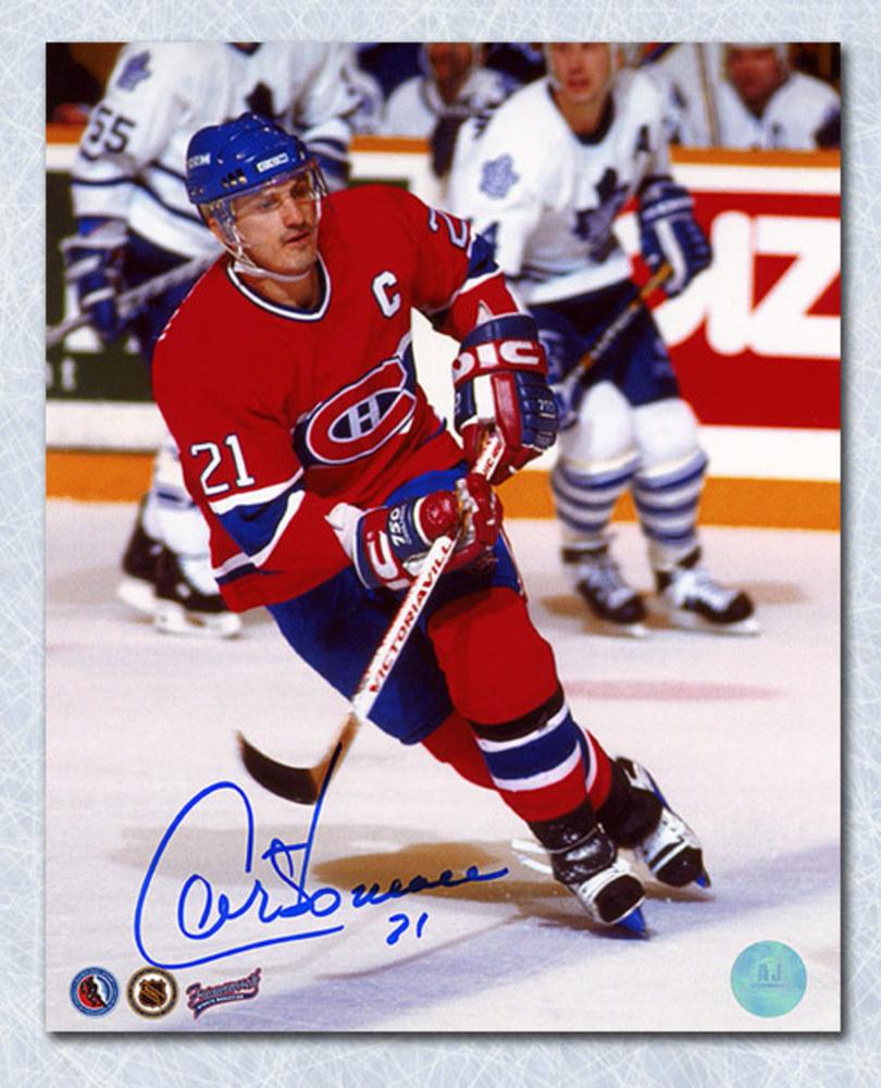 Guy Carbonneau Montreal Canadiens Autographed Captain 8x10 Photo