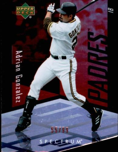 Photo of 2007 Upper Deck Spectrum Die Cut Red #89 Adrian Gonzalez /99