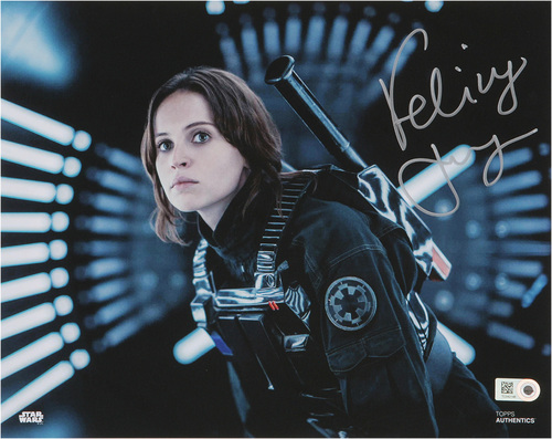 Felicity Jones as Jyn Erso Autographed Silver Ink 8x10 Photo