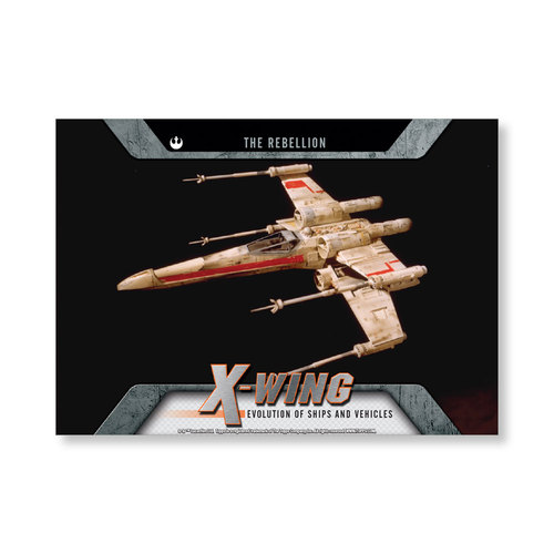 2016 Star Wars Evolution X-wing Fighter EVOLUTION OF VEHICLES AND Ships Poster - # to 99
