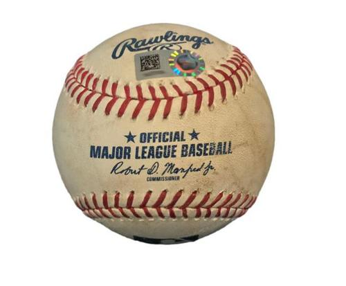 Photo of Game-Used Baseball from Pirates vs. Giants on 7/1/17 - Josh Bell Foul