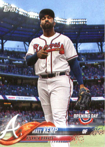 Photo of 2018 Topps Opening Day #11 Matt Kemp