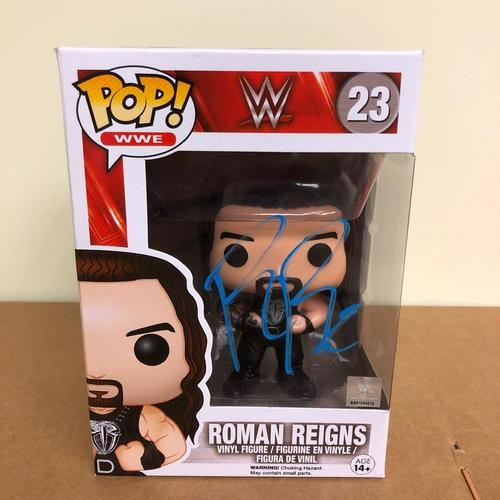 Photo of Roman Reigns SIGNED POP! Vinyl Figure