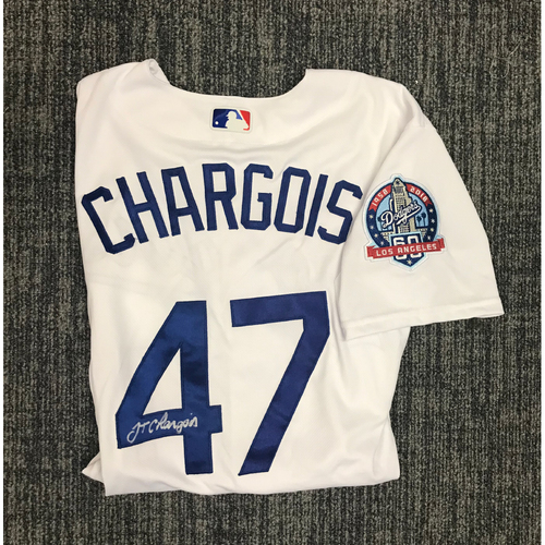 Photo of Kirk Gibson Foundation Auction: JT Chargois 2018 Game-Used Autographed Los Angeles Dodger Jersey