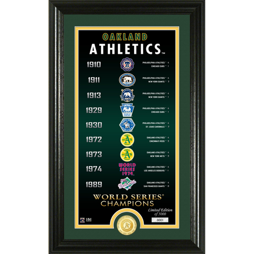 "Photo of Serial #1! Oakland Athletics ""Legacy"" Bronze Coin Photo Mint"