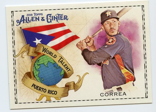 Photo of 2018 Topps Allen and Ginter World Talent #WT34 Carlos Correa