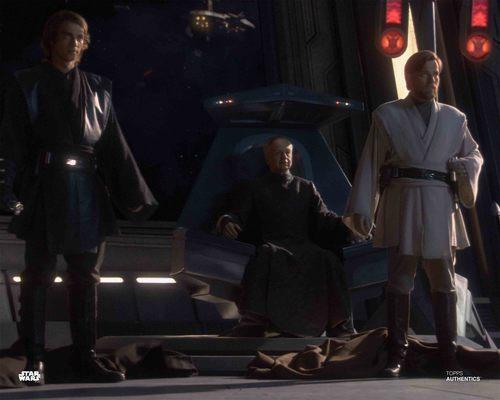 Obi-Wan Kenobi, Anakin Skywalker and Chancellor Palpatine