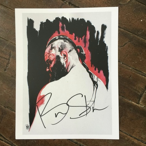 Photo of Braun Strowman SIGNED 11 x 14 Rob Schamberger Print