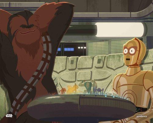 C-3PO and Chewbacca