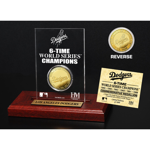 Photo of Los Angeles Dodgers Gold Mint Coin Acrylic Desk Top Display