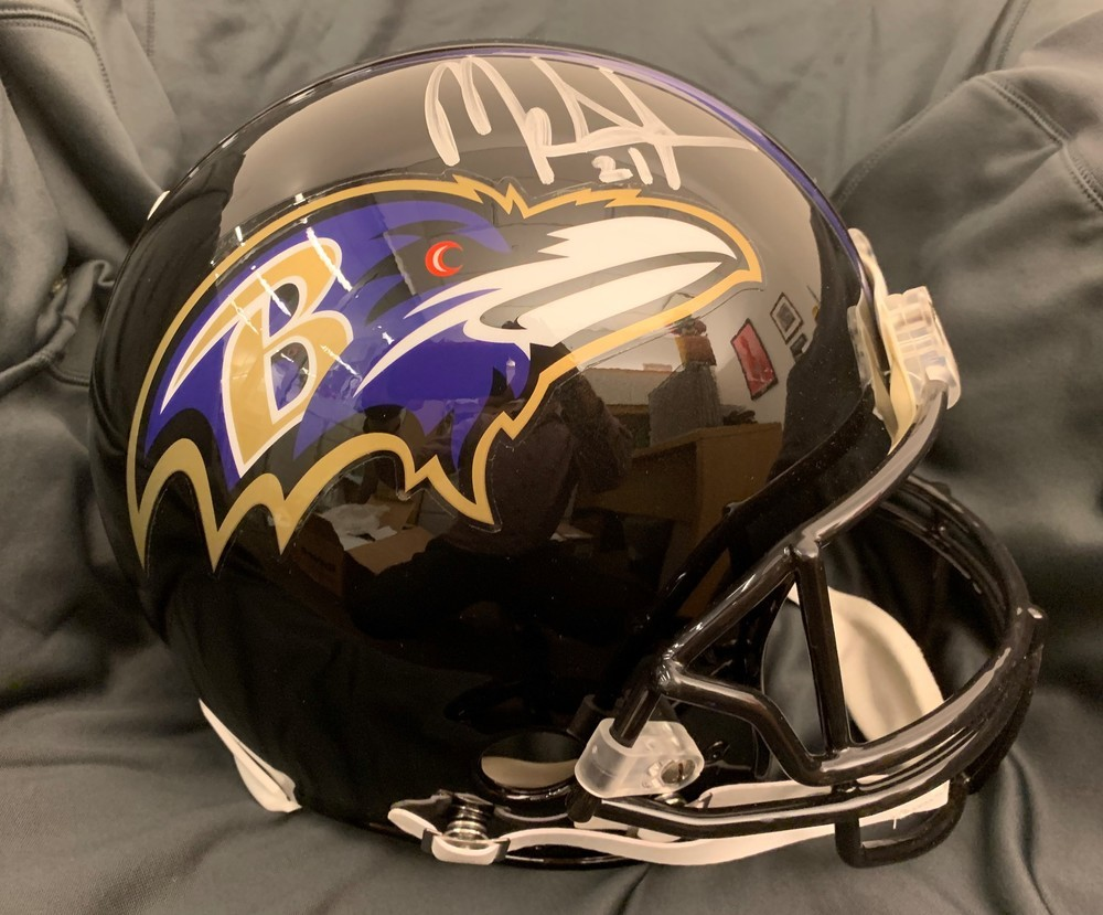 Mark Ingram Signed Ravens Proline Helmet- This auction is raising money for The Mark Ingram Foundation