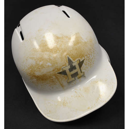 "Photo of Martin ""MARTINCITO"" Maldonado Houston Astros Game-Used 2019 Players' Weekend Helmet"