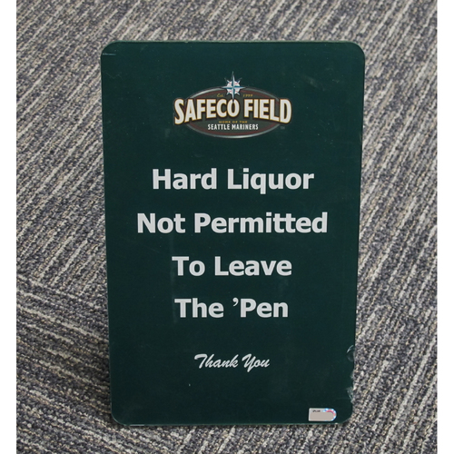 "Photo of ""Safeco Field. Hard Liquor Not Permitted to Leave the Pen"" - Approximately 7""x11"""