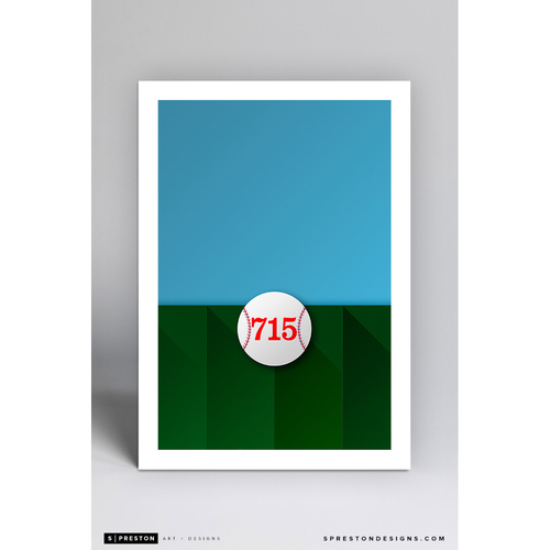 Photo of Turner Field - Minimalist Ballpark Art Print by S. Preston  - Atlanta Braves