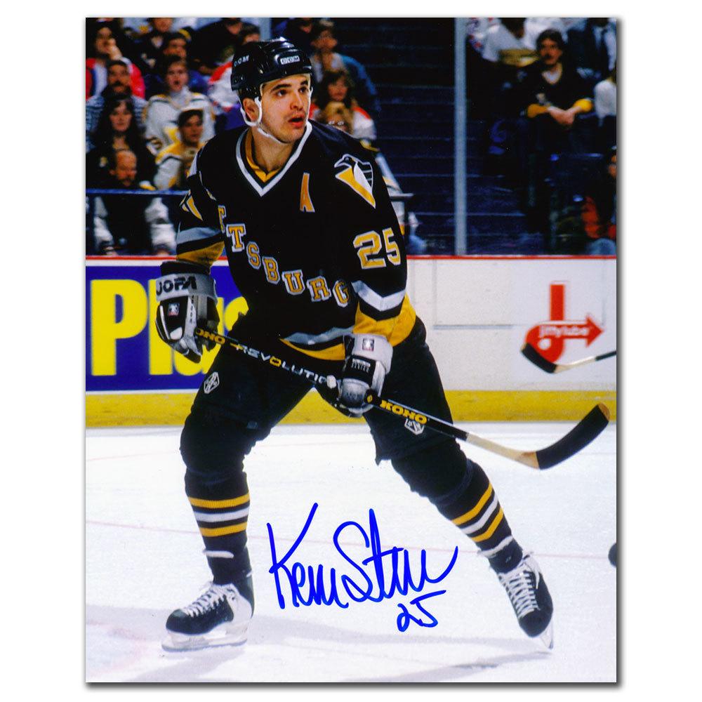 Kevin Stevens Pittsburgh Penguins ACTION Autographed 8x10
