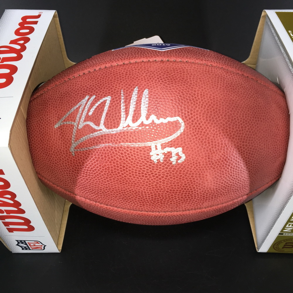 NFL - Bengals Jonah Williams  Signed Authentic Football with 2019 NFL Draft Logo