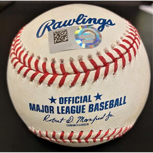 Photo of Niko Goodrum Detroit Tigers RBI Sac Fly Baseball (MLB AUTHENTICATED)