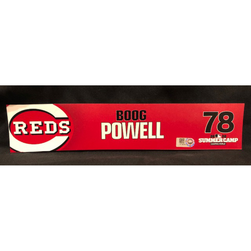 Boog Powell -- 2020 Sumer Camp Locker Tag -- Team-Issued