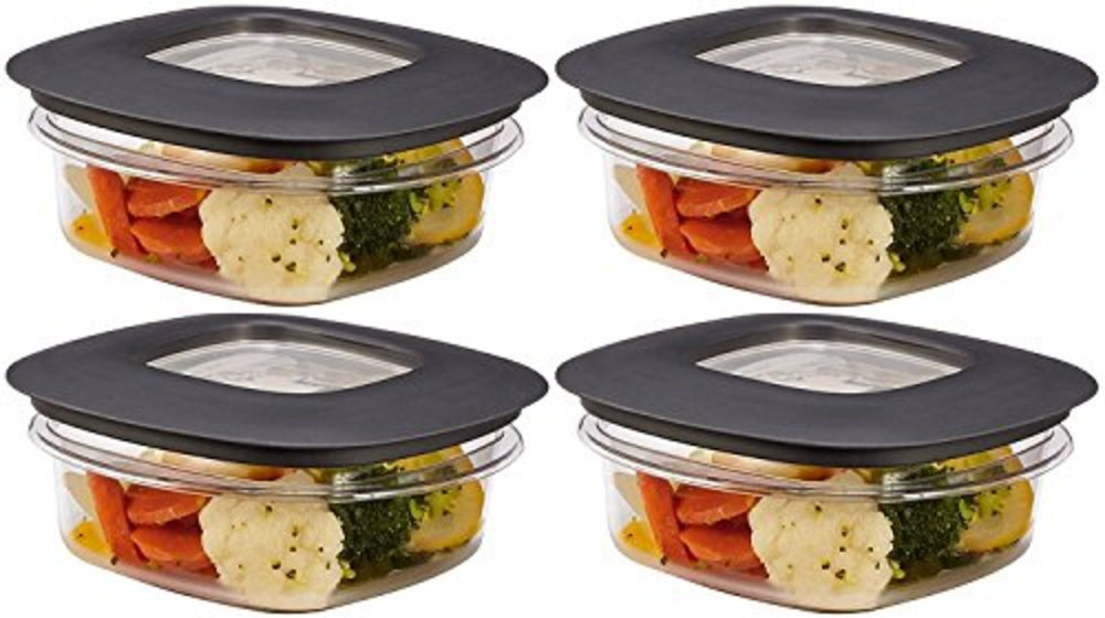 Photo of Rubbermaid Premier Food Storage Container, 1.25 Cup, Grey (Pack of 4)
