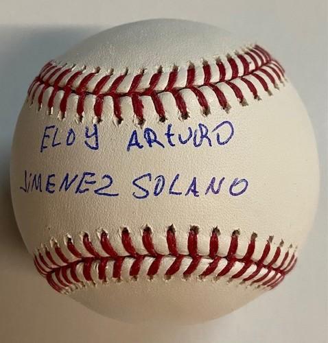 Photo of Eloy Arturo Jimenez Solano Autographed Baseball - Full Name