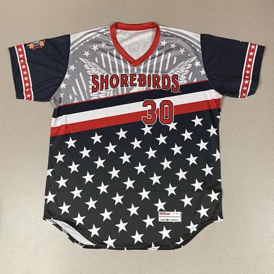 Patriotic Game Worn Autographed Jersey #30 Size 48 Preston Price