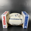 PCF - Seahawks Justin Britt Signed Panel Ball with Seahawks Logo