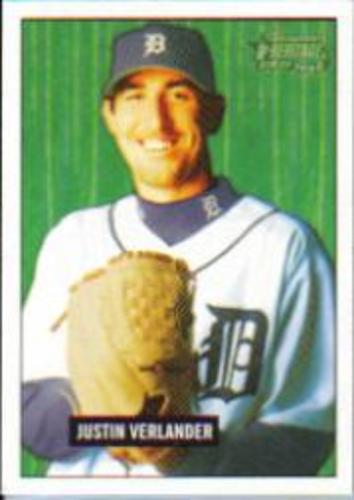 Photo of 2005 Bowman Heritage #220 Justin Verlander Rookie Card