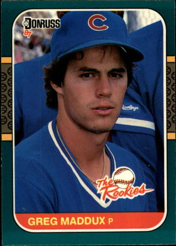 Photo of 1987 Donruss Rookies #52 Greg Maddux -- Hall of Famer